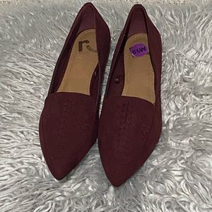 3/$25  Report Faux Sude Pointed Toe Flats